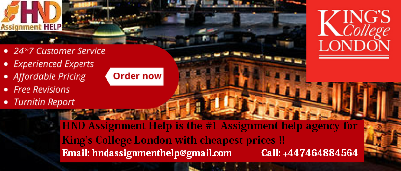 King's College London Assignment help